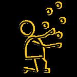 icons hoofdbestand dubbele lijn icon jongleren
